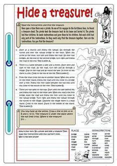 HIDE A TREASURE worksheet - Free ESL printable worksheets made by teachers