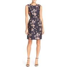 Ivanka Trump Floral Shantung A-Line Dress as seen on Ivanka Trump