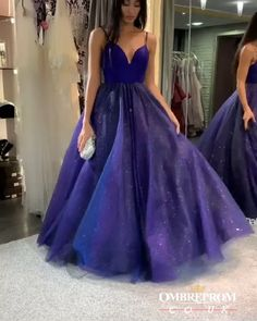 Buy Sparkly Dark Royal Blue Spaghetti Straps V Neck A line Prom Dresses, Formal Dress online.Shop short long ombre prom, homecoming, bridesmaid evening dresses at Couture Candy Cocktail party dresses, formal ball gowns in ombre colors. Royal Blue Prom Dresses, Pretty Prom Dresses, A Line Prom Dresses, Ball Dresses, Homecoming Dresses, Dresses Dresses, Quinceanera Dresses, Dress Prom, Graduation Dresses