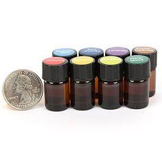 Essential Oil Pocket Doctor 1® Filled Keychain Kit w/ Frankincense, Oregano, Melaleuca (Tea Tree), Lemon, Lavender, Peppermint, Immunity & Sore Muscle Blends in (8) 2ml Drams by Davina®