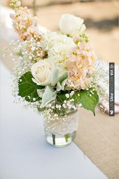mason jar floral ideas | CHECK OUT MORE IDEAS AT WEDDINGPINS.NET | #weddings #weddingflowers #flowers