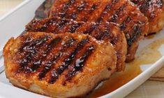Easy pork chop recipe for your George Foreman Grill. The delicious honey glaze i… Easy pork chop recipe for your George Foreman Grill. The delicious honey glaze is so easy to make and the pork chops will melt in your mouth. Easy Pork Chop Recipes, Pork Rib Recipes, Honey Recipes, Grilling Recipes, Sirloin Recipes, Coconut Recipes, Cream Recipes, Quick Recipes, Pork Loin Marinade