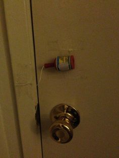 One day when I have a teenager... Catch kids trying to sneak out with this clever little hack. | 33 Genius Hacks Guaranteed To Make A Parent's Job Easier