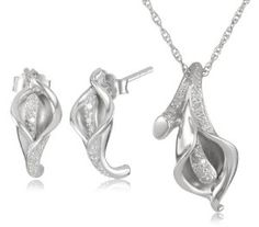 Sterling silver calla lilly set! #christmasgift $84.99