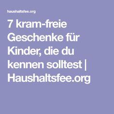 7 kram-freie Geschenke für Kinder, die du kennen solltest | Haushaltsfee.org