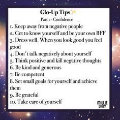 Glo up tips - Confidence