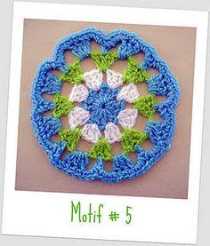 Motif # 5  Beyond the Square Crochet Motifs