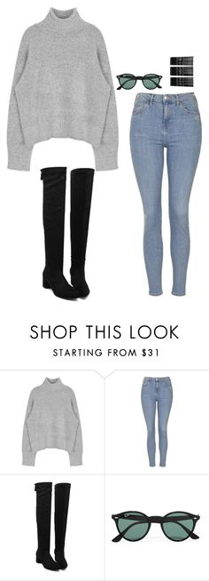 """Untitled #539"" by h1234l on Polyvore featuring Topshop, Ray-Ban, Monki, women's clothing, women, female, woman, misses and juniors"