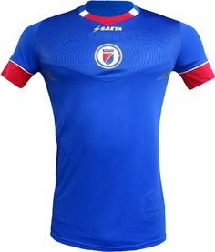 The new Haiti 2016 kit introduces a bold and smart design, set to be worn at this summer's Copa America in the US. Soccer Fans, Football Fans, Football Jerseys, Soccer Players, Haiti Soccer, Copa America Centenario, Sports Jersey Design, Jersey Atletico Madrid, T Shirts