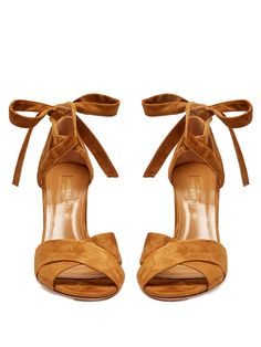 finest selection b6495 1521b Click here to buy Aquazzura Tarzan block-heel suede sandals at  MATCHESFASHION.COM Braune