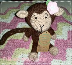 Affe * chimpanse * monkey * gehäkelt * crochet  https://www.facebook.com/fraeuleinwollwunder