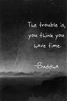 buddha-- You never know when your time will be up.  Take today and seize the opportunities that are in front of you. Word Porn, Words, Quotes, Movie Posters, Movies, 2016 Movies, Dating, Tumbling Quotes, Films