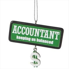 Found it at Wayfair - Accountant Hanging Figurine