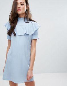 Цельнокройное платье с оборками спереди Fashion Union