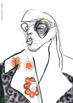 Emily_Collier Illustration 005.jpeg In mijn boek is er een drugsbarones en ze moet er een beetje gruwelig uitzien, een beetje goor een beetje verminkt, dit is wat overdreven maar een vrouw met een misvormd gezicht en een verminkt ook komt in de buurt.