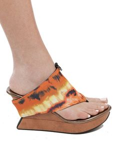 Take a look at the Black & Spicy Orange Caribba Sandal on #zulily today!