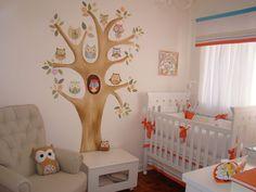 quarto-de-bebê-menina-arvore-corujas