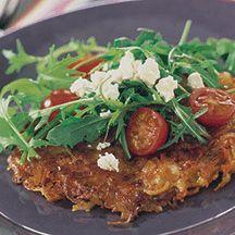 (5 pp) Potatiskaka med tomat- och fetaostsallad