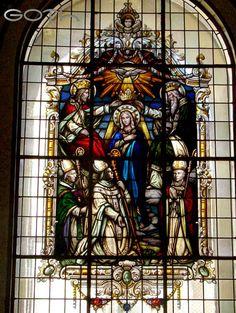 Vitral La coronación de María, Basílica de los Ángeles, Cartago, Costa Rica