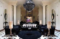 Элитный дизайн люстры в гостиной