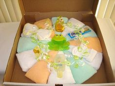 Washcloth Pizza - Fantastic baby shower gift!
