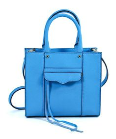 Amazon.com: Rebecca Minkoff MAB Tote Mini Neon Blue Leather Shoulder Handbag Purse: Shoes