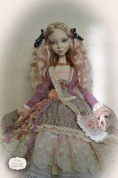 Eve. Boudoir doll. Polymer clay.