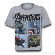 Images of Avengers Age of Ultron Scratch Plated Kids T-Shirt