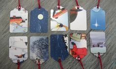Save Your Christmas Cards to make Christmas tags. This blogger makes them for craft fairs! No instructions but easy to figure out how to do.
