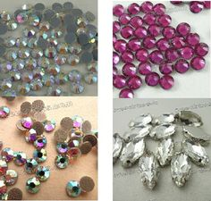 The #Rhinestones are developed by gem quartz, glass or acrylics in order to reduce their prices.