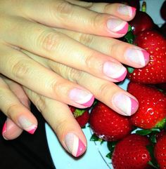 My strawberry shortcake nails :P
