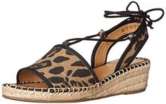 Franco Sarto Womens LLiona Espadrille Wedge Sandal Camel Leopard 75 M US *** Click image to review more details.
