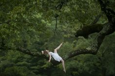 Great pic from 'Dancers Among Us' photography project - floating amongst the tree tops - dancing, I love the idea of this.