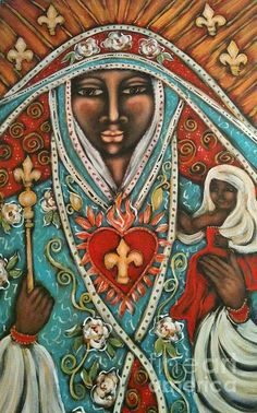 Wonderful image of the Virgin by Maya Telford. Her paintings are so expressive.