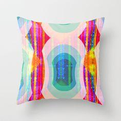 Mod Squad Wallpaper Stripe Throw Pillow by Vikki Salmela - $20.00