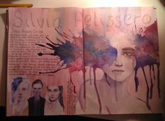 Silvia Pelissero/Agnes Cecile - GCSE sketchbook A Level Art Sketchbook, Sketchbook Layout, Sketchbook Inspiration, Sketchbook Ideas, Agnes Cecile, Art Alevel, Art Challenge, Art Portfolio, Art Inspo