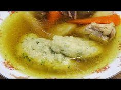 Habkönnyű grízgaluska, ami mindig sikerül - YouTube Hungarian Recipes, Minion, Cake Recipes, Main Dishes, Soup, Vegetarian, Pasta, Homemade, Chicken