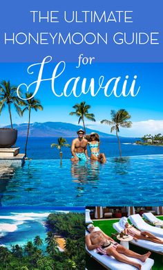 Where to stay, what to do, where to eat, the best beaches, where to watch the sunset and more. The Ultimate Guide to Hawaii for a honeymoon Hawaii Honeymoon Resorts, Best Places To Honeymoon, Honeymoon Planning, Romantic Honeymoon, Hawaii Vacation, Hawaii Travel, Romantic Travel, Dream Vacations, Thailand Travel