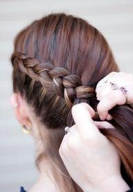 Sideways French braid