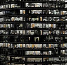 Jean-Pierre Attal: Cells 243 Modern City, Garden Gates, Artist Art, Architecture, Facade, Street Art, Windows, Photography, Buildings