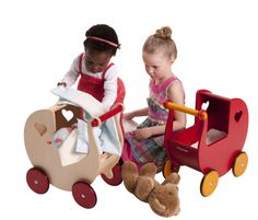 Doll Pram Red / Natural with Bedding by Moover (limited stock) Pram Toys, Dolls Prams, Red Dolls, Travel Toys, Childrens Gifts, Barbie Dream, Sensory Toys, Toy Store, New Toys