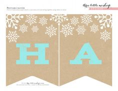 free happy holidays printable christmas banner
