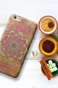Mandalas are visually appealing in such a way that they absorb the mind ,and irritating thoughts are unable to get through, while at the same time a spiritual essence surrounds the person looking at them. This process allows the individual to be in a higher consciousness or awareness, almost as though being hypnotized. With such great looks and benefits, mandalas make a phone case more than just a simple accessory! #mandalaphonecase #mandalaphonecover #bohophonecase #iphonecase #samsungcase Make A Phone Case, Samsung Cases, Iphone Cases, Hypnotized, Higher Consciousness, Phone Cover, Mandala Art, Spiritual, Thoughts