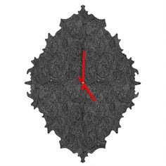 Gneural Inverted Currents Baroque Clock | DENY Designs Home Accessories