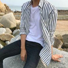 Jaemin Korean Fashion Men, Boy Fashion, Mens Fashion, Fashion Outfits, Cool Outfits, Casual Outfits, Men Casual, Mode Man, Style Masculin