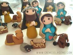 make a nativity scene out of model magic - Google Search