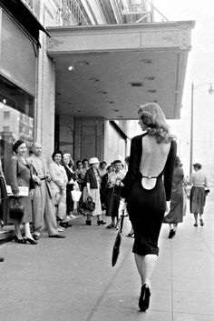 """ Vikki 'The Back' Dougan on the streets of Hollywood, 1957. Photographed for Time magazine by Ralph Crane. """