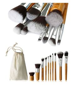 This sleek, 10 piece brush set is made with all natural & recycled materials, allowing you to create stunning looks while protecting the environment! Each brush comes with soft, fluffy synthetic bristles, making it easy achieve a flawless makeup applicati Concealer Palette, Concealer Brush, Eyeliner Brush, Apply Eyeliner, Makeup Needs, Brush Sets, Flawless Makeup, How To Apply Makeup, Makeup Brush Set