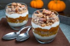 Pumpkin Pie Quinoa Parfait with Gingersnap Pecan Streusel - Sweet Treat Eats