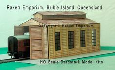 Ho Scale Train Timber Style Shed Model Railway Building Kit - Hotst